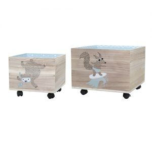Set carrello porta giochi sea blue Bloomingville