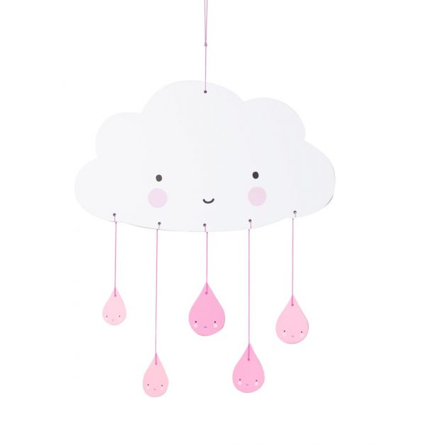 Giostrina carta nuvola rosa