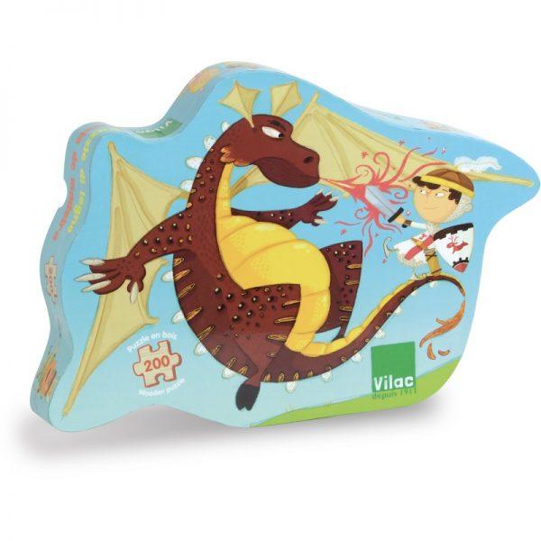 Puzzle legno cavalieri e drago Vilac