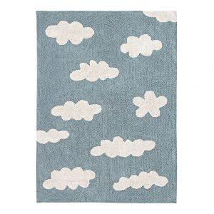 Tappeto lavabile nuvole azzurro vintage Lorena Canals