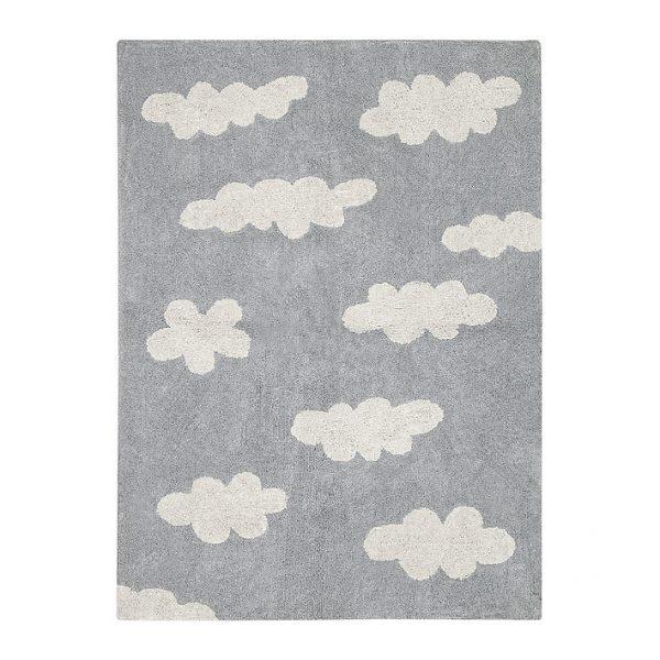 Tappeto lavabile nuvole grigio Lorena Canals