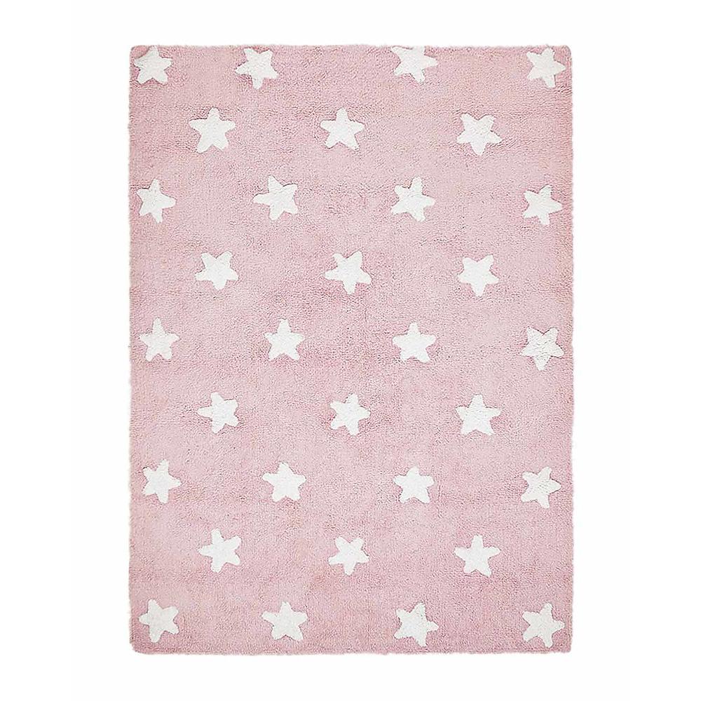 tappeto lavabile rosa stelle bianche lorena canals. Black Bedroom Furniture Sets. Home Design Ideas