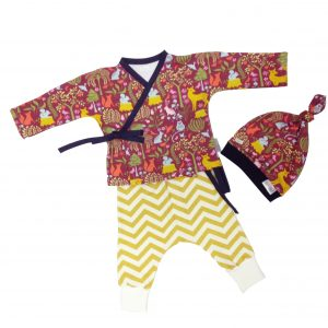 Completo kimono pantalone cappellino Baboo