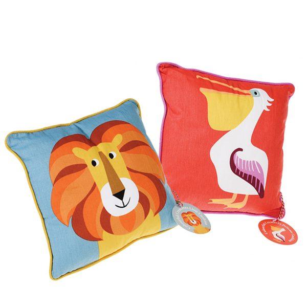 Cuscino leone + cuscino pellicano Federico