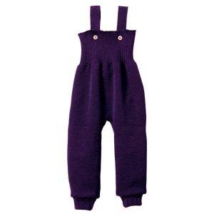 Salopette in lana merinos viola
