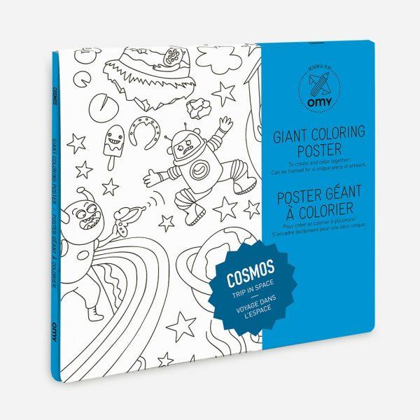 Cosmos Poster Gigante da Colorare 100 x 70 cm OMY