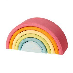 Arcobaleno steineriano Grimm's - 6 pezzi colori pastello