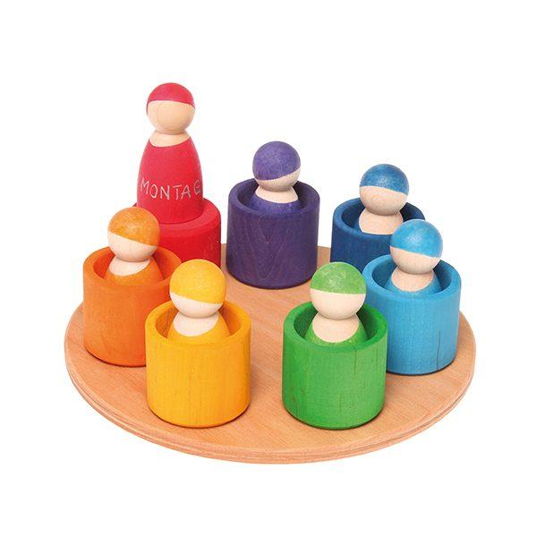 Gioco 7 amici del arcobaleno Grimm's