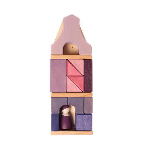 Set costruzioni legno Casa graticcio viola Grimm's