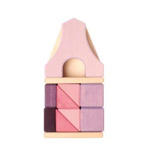 Set costruzioni legno Casa graticcio viola piccola Grimm's