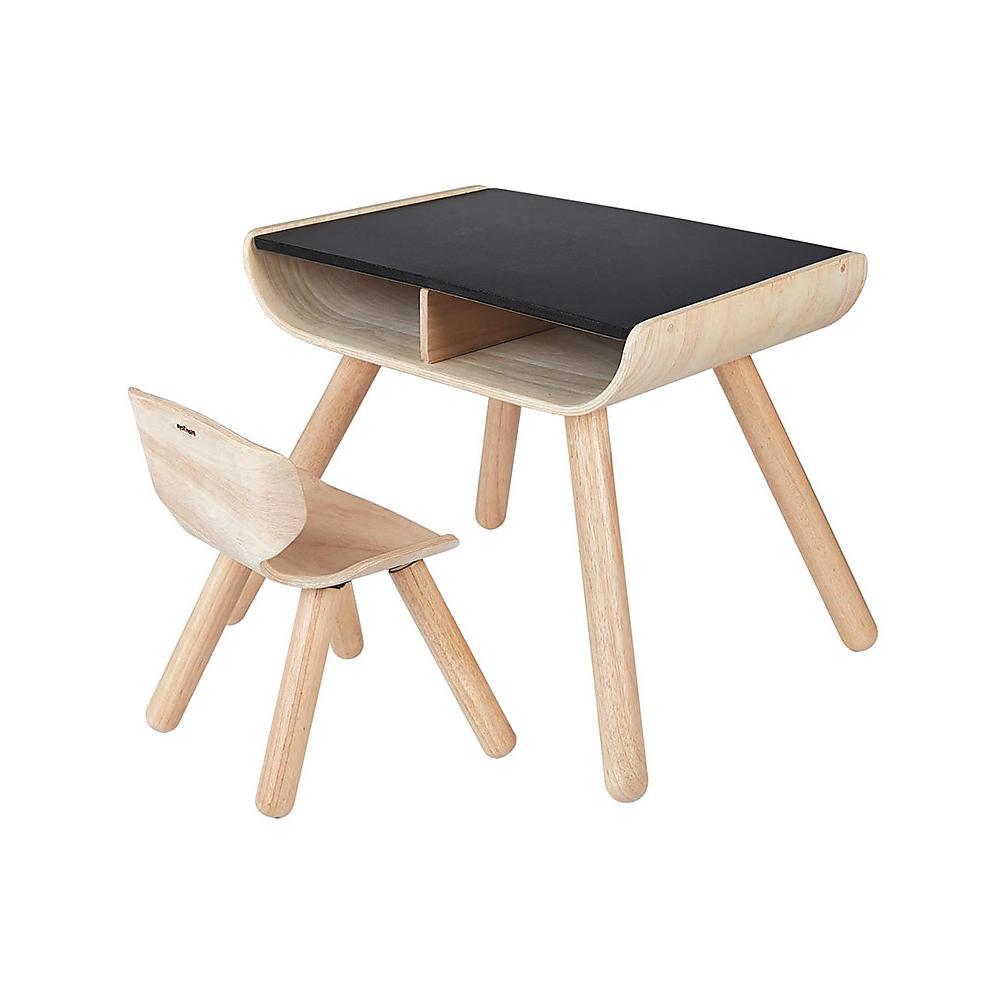 set tavolo e sedia bambini legno plan toys babookidsdesign