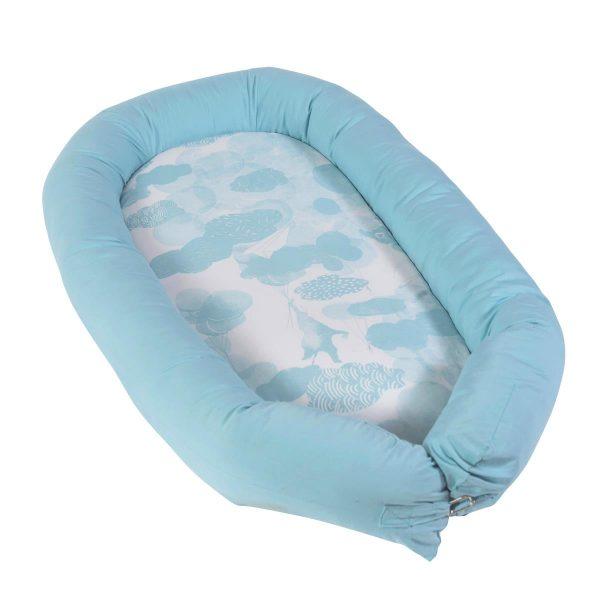 Riduttore-per-culla-Baby-nest-cloud-blue-Sebra