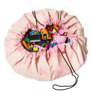 Sacco porta giochi e tappeto 2 in 1 AlittleLovelyCompany Elephant Play&go