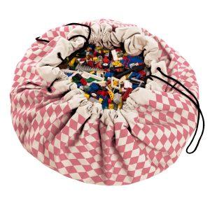 Sacco porta giochi e tappeto 2 in 1 Diaomond roze Play&go