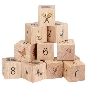 Puzzle cubi legno la Giostra - Konges sløjd