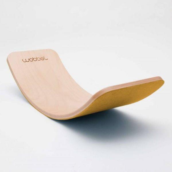 Wobbel pro balance board legno e feltro mustard