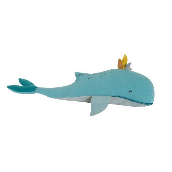 Pupazzo cuscino balena Joséphine Le Voyage d'Olga Moulin Roty