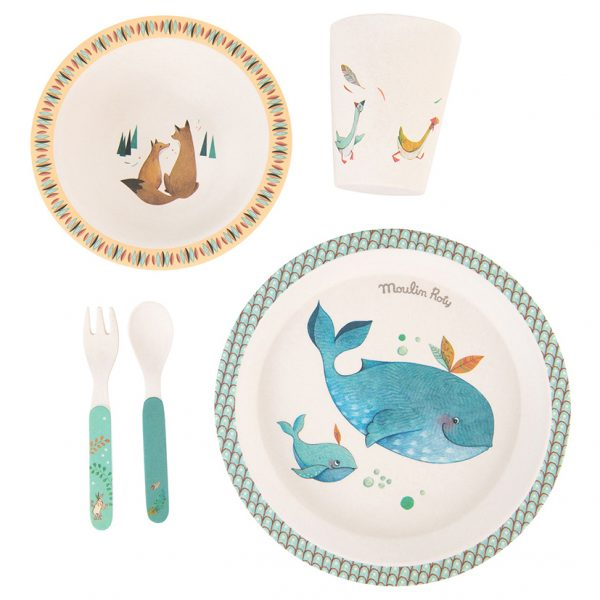 Set pappa bamboo Le Voyage d'Olga Moulin Roty