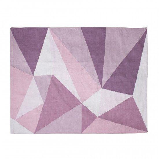 Tappeto geometric rose cotone intrecciato Sebra