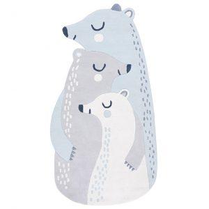 Tappeto in cotone famiglia orsi polari Artic Dream Lilipinso
