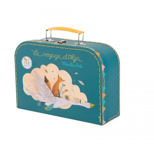 Valigetta-gioco-puzzle-124 pezzi-Le-Voyage-d'Olga-Moulin-Roty-714360