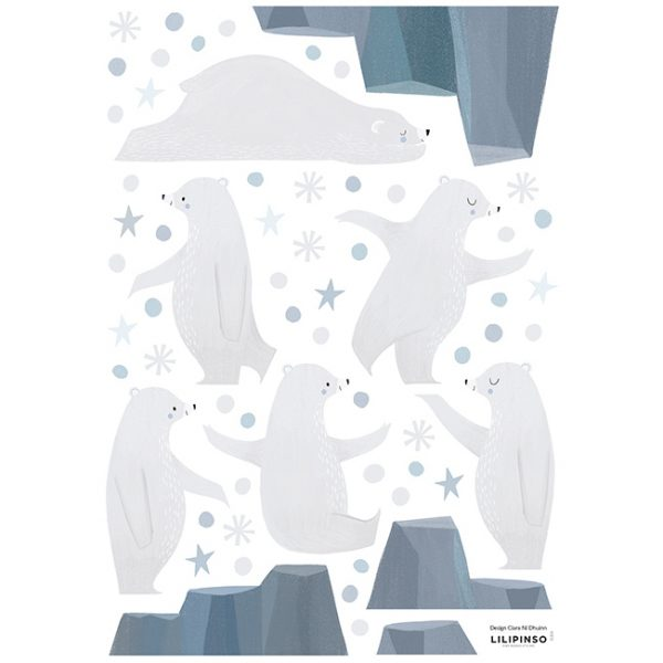 Wallsticker Orsi giocolieri Artic Dream Lilipinso