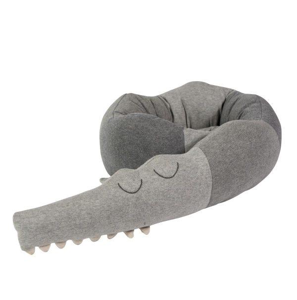 cuscino-paracolpi-coccodrillo-grigio-sebra
