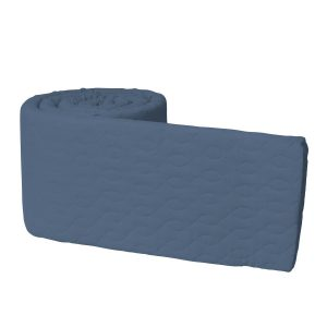 Paracolpi trapuntato per lettino royal blue Sebra