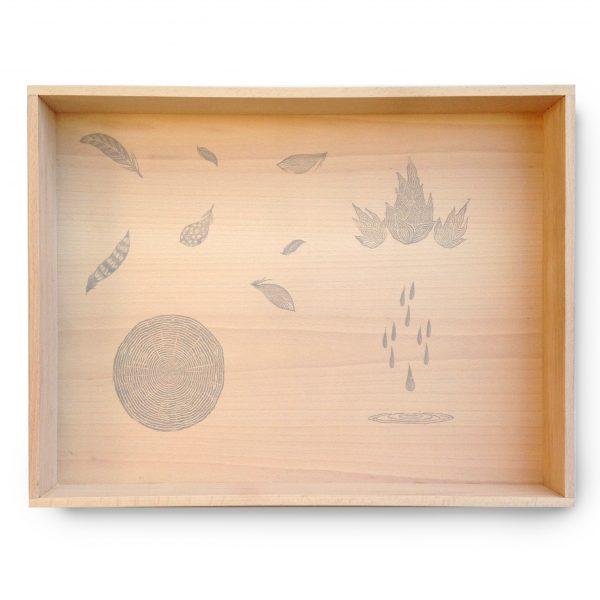Cornice vassoio gioco legno Grapat