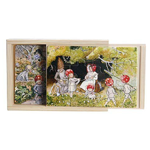 Set 4 Puzzle legno Children of the forest Elsa Beskow