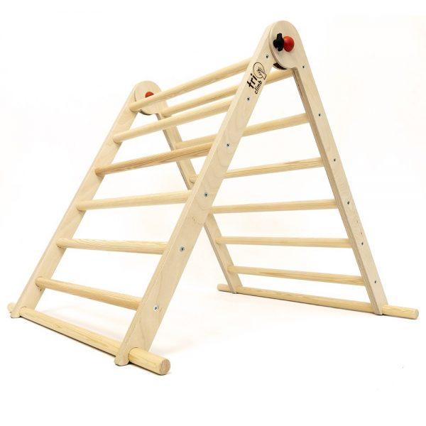 Triangolo Pikler legno naturale richiudibile Triclimb