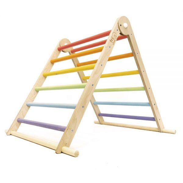 Triangolo Pikler legno pastello richiudibile Triclimb