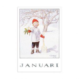 Cartolina mese Gennaio Elsa Beskow