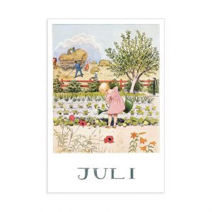 Cartolina mese Luglio Elsa Beskow
