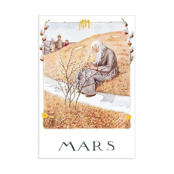 Cartolina mese Marzo Elsa Beskow