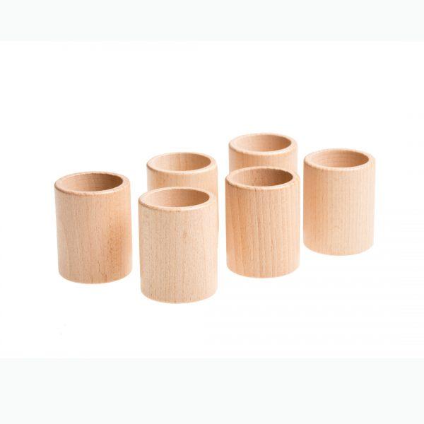Gioco euristico 6 bicchieri legno Grapat