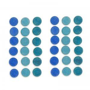Mandala monete blu Waldorf Grapat