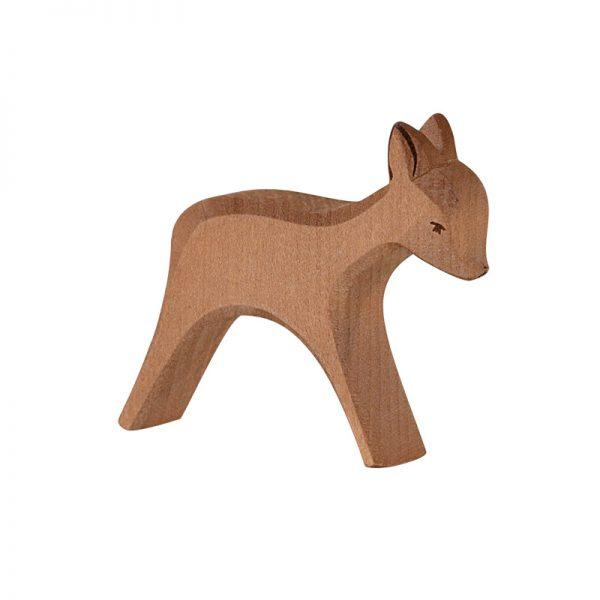 Figura legno mamma capriolo corre - Ostheimer