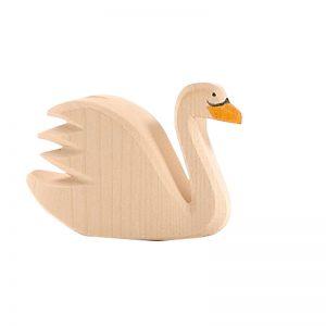 Figura legno cigno bianco - Ostheimer
