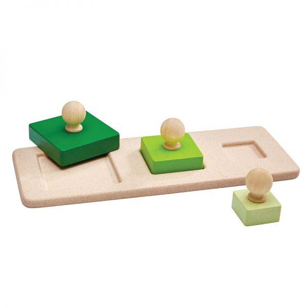 Puzzle Montessori 3 Quadrati Plan Toys