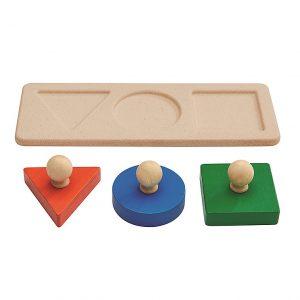 Puzzle Montessori 3 Forme Plan Toys