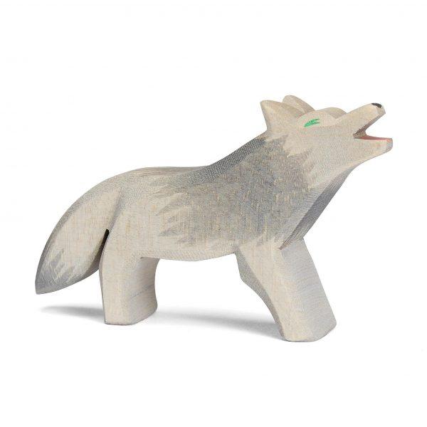 Figura legno Lupo che ulula - Ostheimer