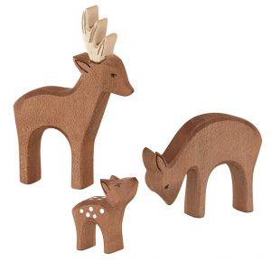 Set figure legno famiglia capriolo - Ostheimer