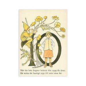 Cartolina numero 10 fiorito Ottilia Adelborg