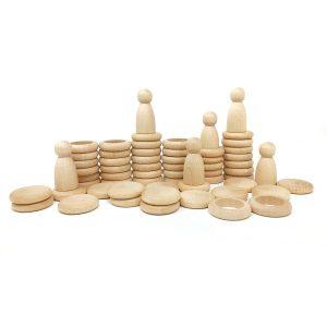 Nins®- monete - anelli legno gioco educativo naturali Grapat