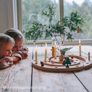 Spirale di compleanno e calendario Avvento legno naturale Grimm's