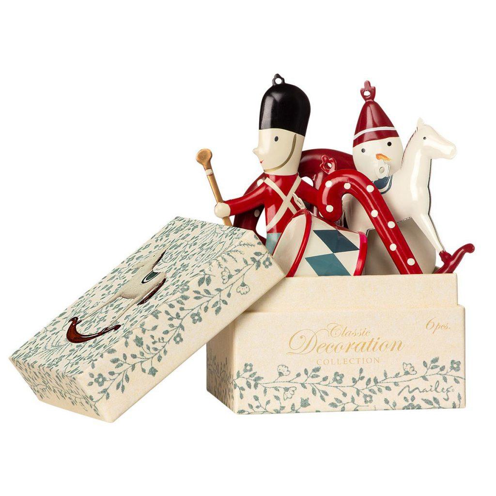 Set 6 decori di Natale Ornament in box Maileg