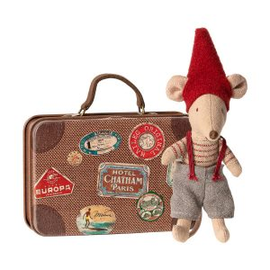Topino Natale little brother in suitcase Maileg
