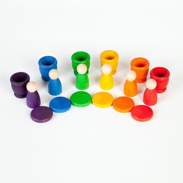 Nins®- monete - porta uovo legno gioco educativo Grapat