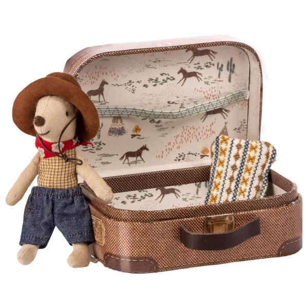Topino cowboy little brother in suitcase Maileg